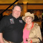 Marilyn with Greg Raymer, pro poker player